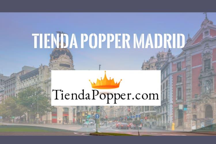 tienda popper en madrid imagen del logo con la gran vía madrileña